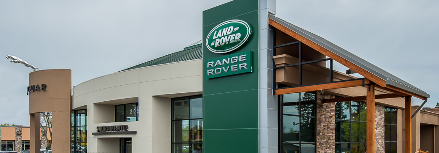 Land Rover dealership completed construction project photo